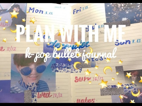 PLAN WITH ME two bullet journal weelky spreads J-HOPE AND SUGA (SOPE)