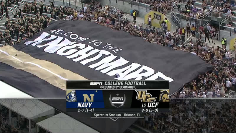 NCAAF 2018 / Week 11 / Navy Midshipmen - (12) UCF Knights / 1H / EN