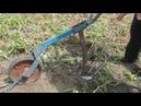Копание картофеля с помощью самодельной лебедки и плуга. Хозяйство Пасечника Н.И.