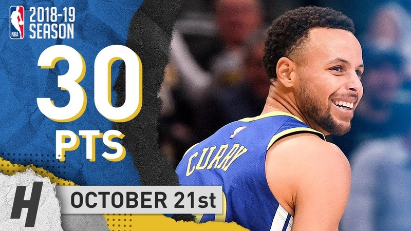 Stephen Curry Full Highlights Warriors vs Nuggets 2018.10.21 - 30 Points, 6 Ast