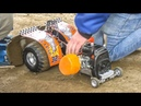 Extreme loud Nitro Tractor Pulling! Big RC Action!