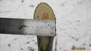 Шашка с клинком Хевсурской гурды 570 г Жесткий тест шашки Мастером ИЗ