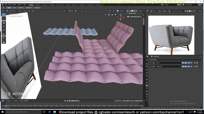 Modeling ikea furniture in blender 2 8 chair 3 tutorial with chill music