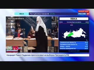 Новости на Россия 24    Патриарх Кирилл надеется, что выбор россиян укрепит согласие в обществе