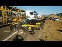 Perseguição Policial - Caminhoneiro alucinado destruindo tudo!