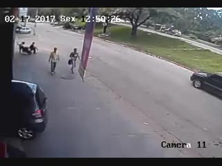 Runaway Tire Knocks Unlucky Man Out Cold