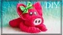 Свинка из полотенца | Towel pig
