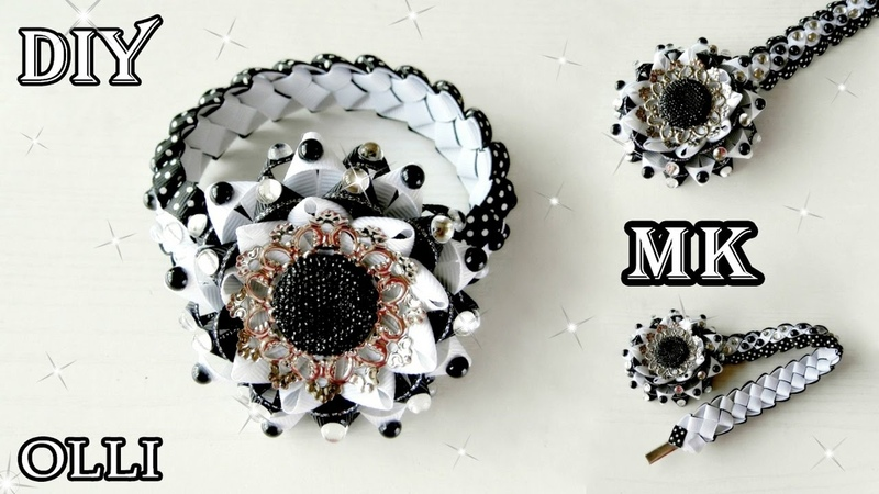 DIY ideas Украшение на гульку Decoration on a bun Moño
