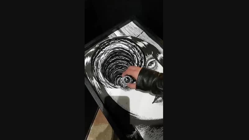 Interactive art Junji Ito
