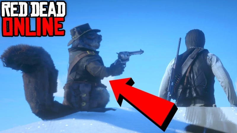 Red Dead Redemption 2 - Funny Moments 4 SQUIRREL