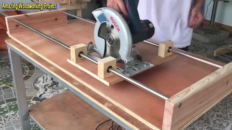 Распиловочная станция из ручной циркулярной пилы от Amazing Woodworking Techniques