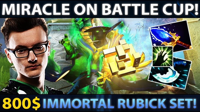 Miracle on Battle Cup Party with Gorgc MagE 800$ Rubick Set EPIC Comeback in Finals Dota 2