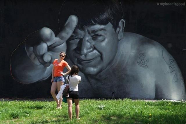 Крутое граффити