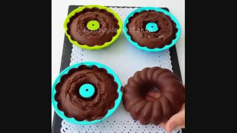 Шоколадно-банановые кексы | Больше рецептов в группе Десертомания