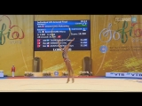 Александра Солдатова - обруч (финал многоборья) Чемпионат Мира 2018