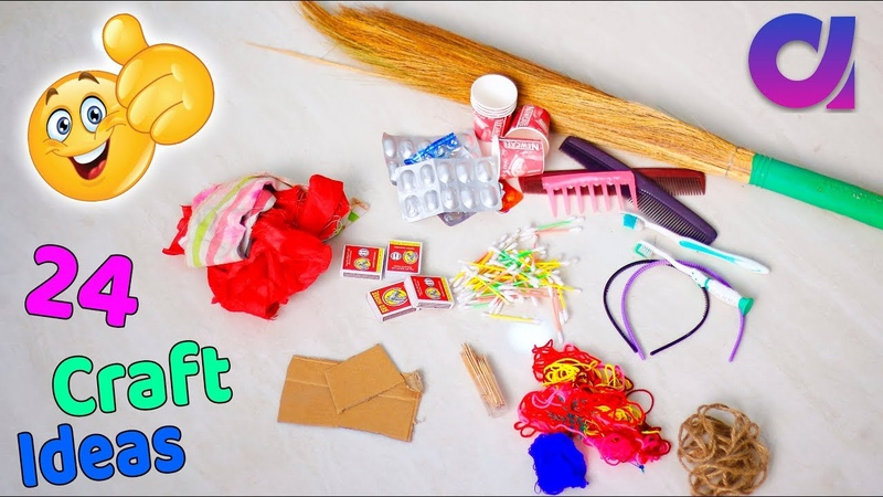 24 Genius crafts idea to make in 5 minutes | Best out of waste | Artkala 500