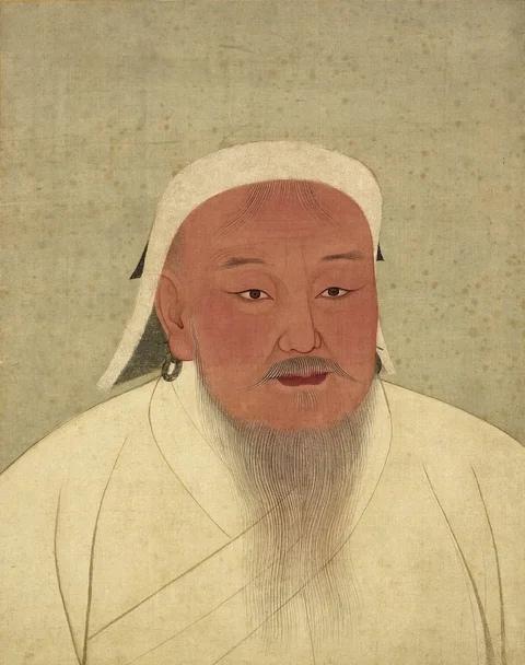 Китайский портрет Чингисхана -- XIV век.