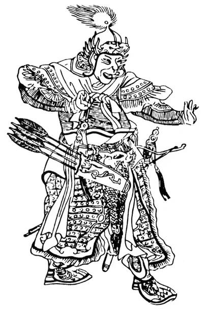 Субэдэй. Средневековый китайский рисунок XVI века.