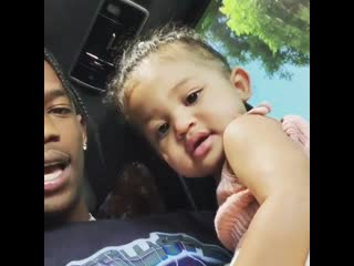 Travis scott с дочкой [nr]