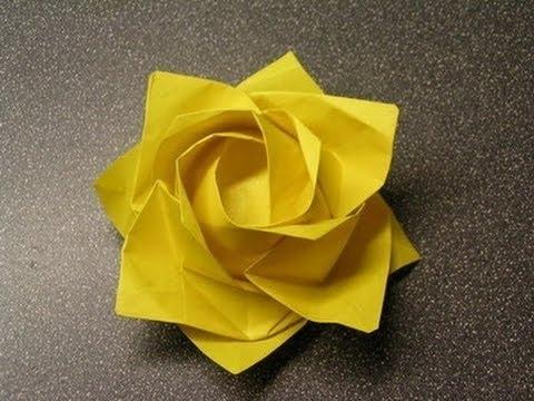 Manualidad Rosa Kawasaki en Origami - Hogar Tv por Juan Gonzalo Angel