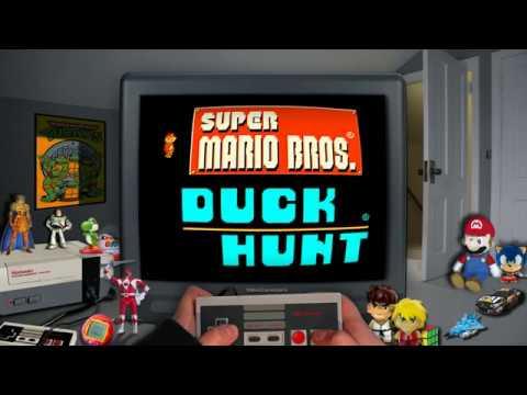 Testando Super Mario Bros no Retroarch com filtro de tv que criei