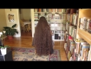 Very long hair curls with flexi rods