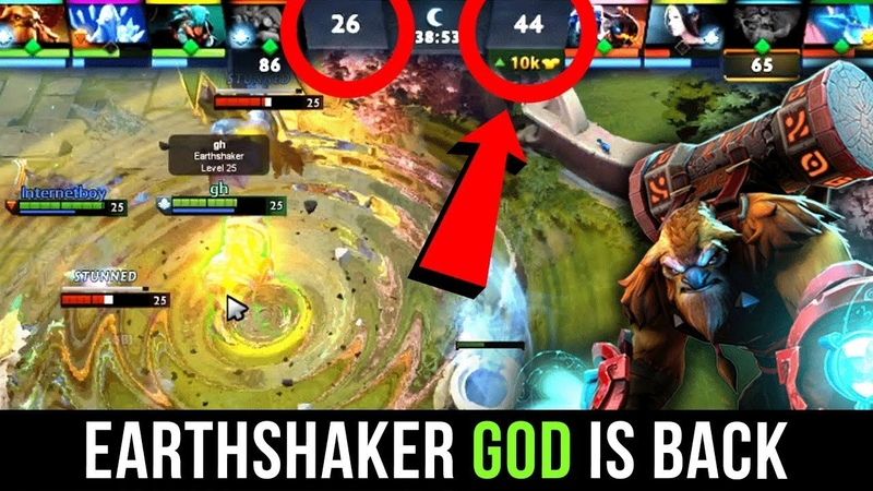 Earthshaker GOD is Back - GH Best ES Player Amazing Comeback - Dota 2 EPIC Gameplay