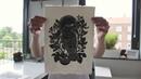 Linocut carving and printing - short film by Maarit Hänninen