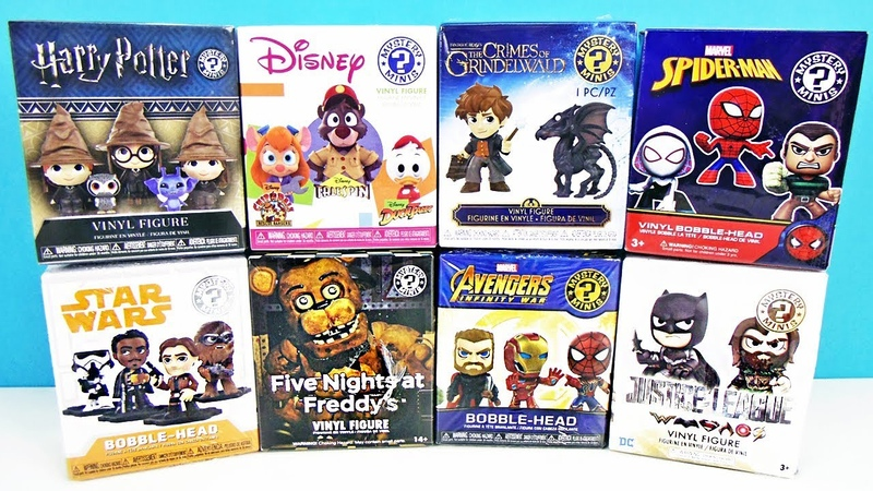 FUNKO Mystery Minis Mix! СЮРПРИЗЫ Five Nights At Freddys,мультфильмы ДИСНЕЙ,МСТИТЕЛИ Marvel,FNAF