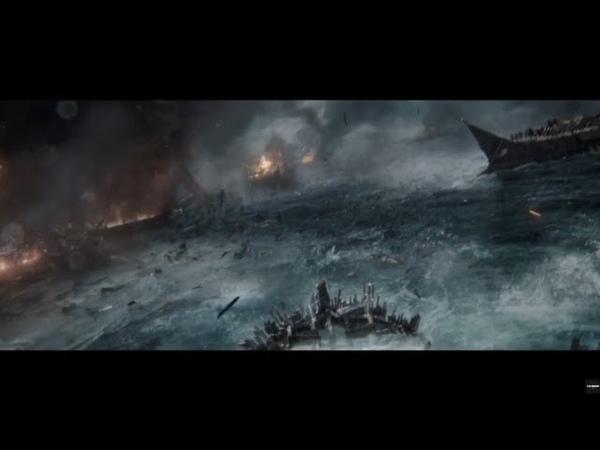 Битва Римлян против Греков в море . Бен Гур 2016