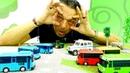 Los clones de Tayo el autobús. Coches para niños. Vídeo de juguetes.