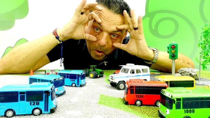 Los clones de Tayo el autobús Coches para niños Vídeo de juguetes
