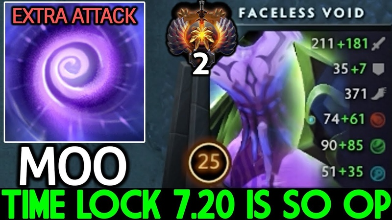 MOO [Faceless Void] New Time Lock 7.20 is So Overpower WTF Game Dota 2