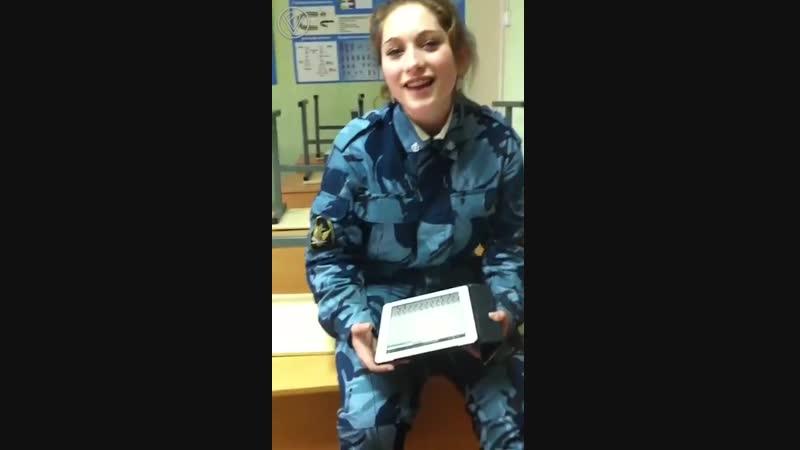 Курсантка ФСИН Юлия Матюкина покорила интернет исполнив песню