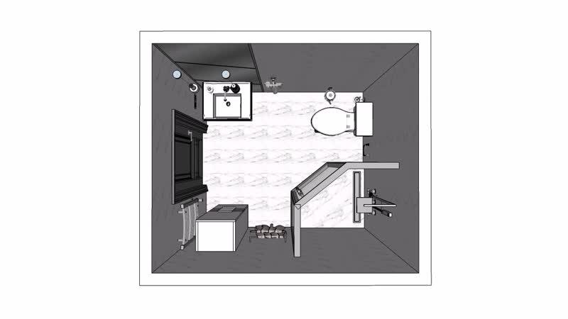 Видео облёт ванной комнаты...