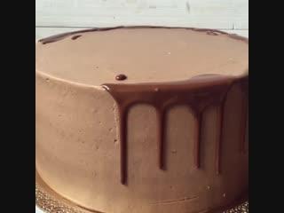 Шоколадные подтёки на торт. / Наша группа в ВКонтакте: