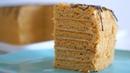Торт медовый Винни-Пух с творожно-карамельным кремом