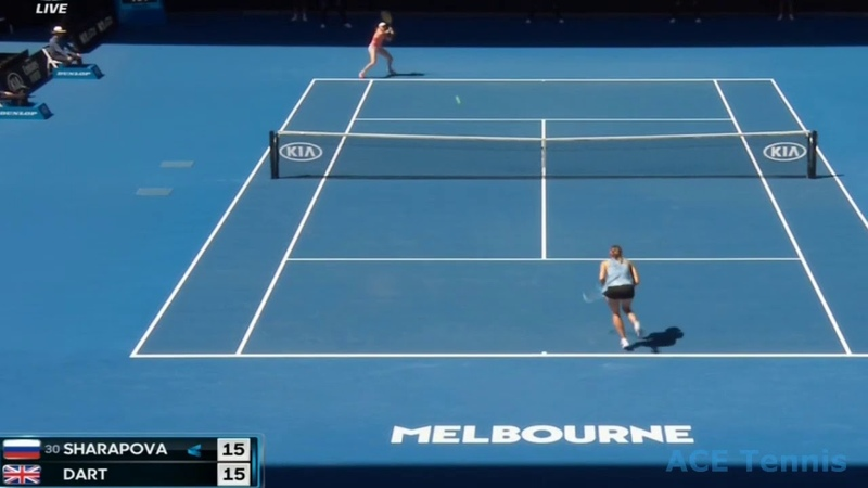 Maria Sharapova vs Harriet Dart Australian Open 2019