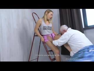 [oldgoesyoung] daniella margot experienced man cures cutie with sex / опытный дед трахает молодую [old and young,incest,daddy]