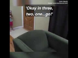 Dad build an indoor obstacle course for daughter!