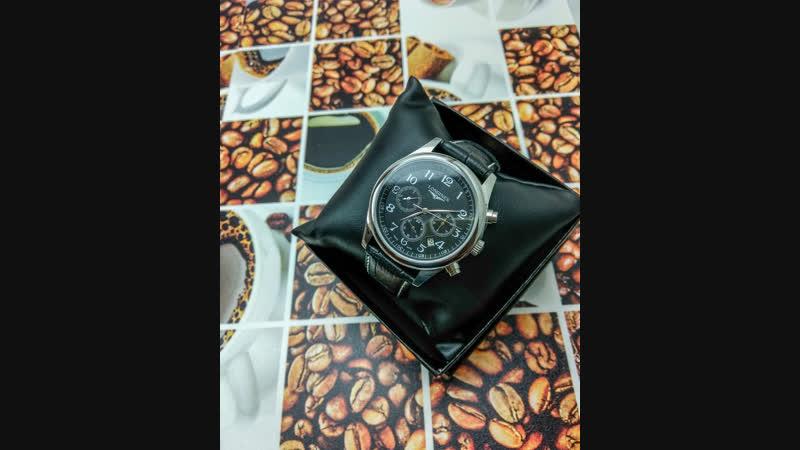 Longines mechanical watch Leather