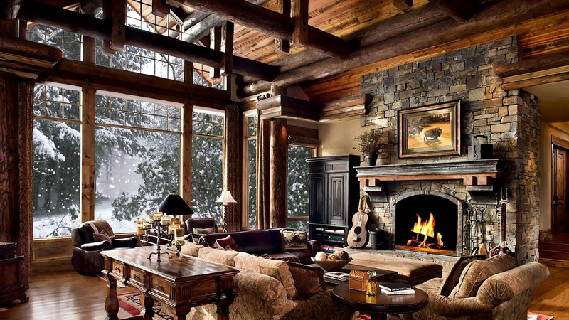 HD Christmas Screensaver - Snow falling, Fire crackling sound, Cosy, Let it snow - 2 hours 30 mins