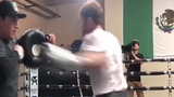 Canelo Alvarez Goes Berzerk On Punching Pads - Training For G.G.G The Rematch