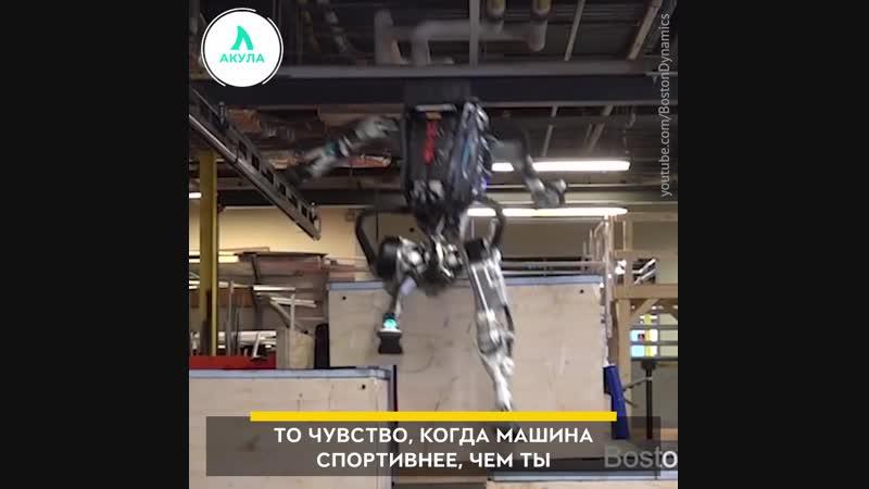 Робот-паркурщик от BostonDynamics | АКУЛА