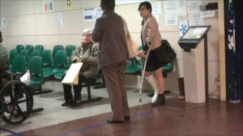 Crutching in ospital 35