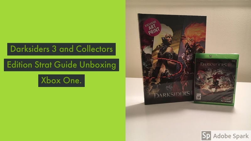 Darksiders 3 and Collectors Edition Strat Guide Xbox One.