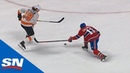 Flyers Nolan Patrick Goes Bar Down Off The Bench Vs. Canadiens