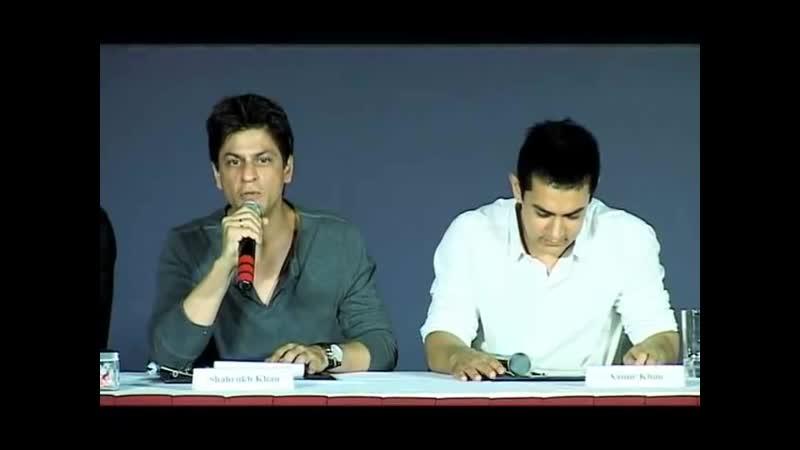 Shah rukh khan and Aamir Khan Press Conference Producers-Distributors ( 480 X 640 )