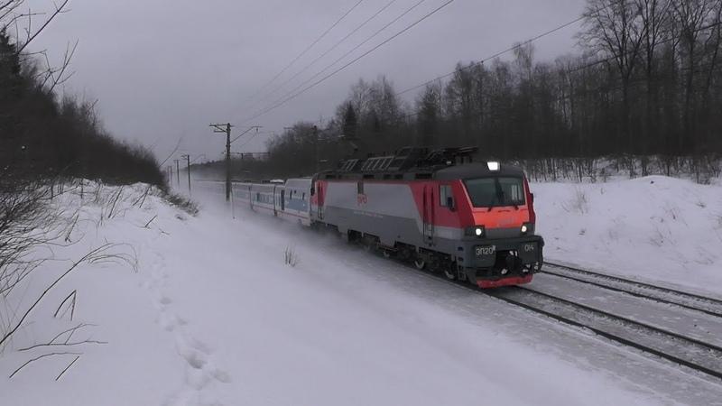 Электровоз ЭП20 014 с поездом № 013 Москва Берлин