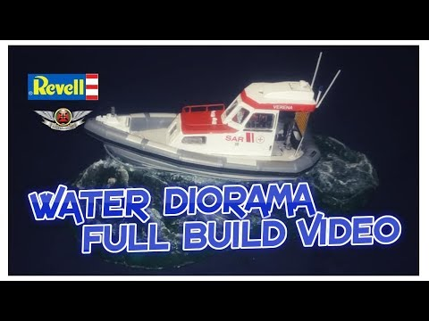 1/72 Revell SAR VERENA WATER DIORAMA FULL BUILD